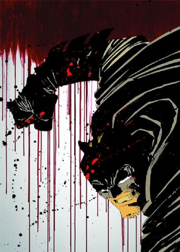 BATMAN - BLOOD DRIP ART canvas print - self adhesive poster - photo print